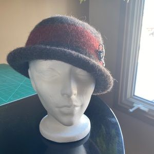 Handmade felted wool hat
